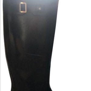 Hunter black gloss W263616 boots/booties